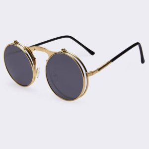 VINTAGE STEAMPUNK Sunglasses round Designer