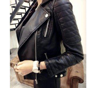Black Blazer Soft Faux Leather Jackets