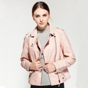 2018 Spring Autumn PU Leather Faux Jacket