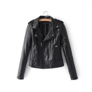2018 Soft Zipper Faux Leather Jackets
