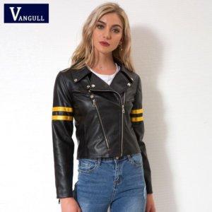 Cool Streetwear Black Faux leather jackets