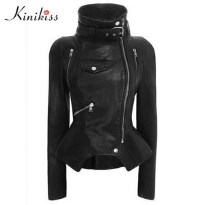 Gothic Faux Leather Coats and Motorcycle Jacket