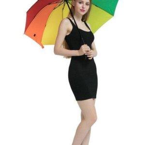 Rainbow outdoor Three-folding Unbrella Parasol