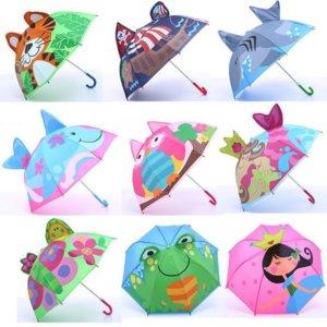 Cartoon Patterns Umbrellas Kids Boys Girls Paraguas Parasol