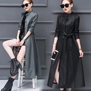 Women Velvet faux leather coat 2018