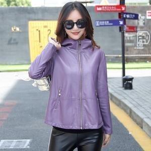 Women's Leather Jacket M-3XL 2018