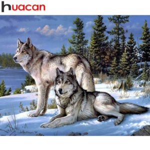 Diamond Painting Wolf Animal Embroidery