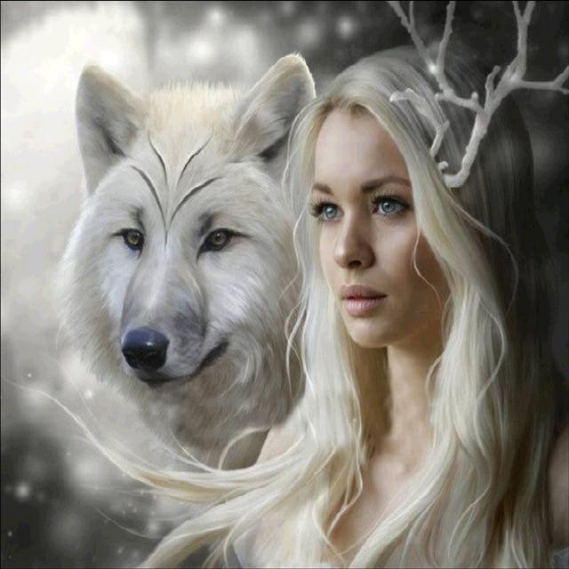 Beauty and Wolf DIY Diamond Painting