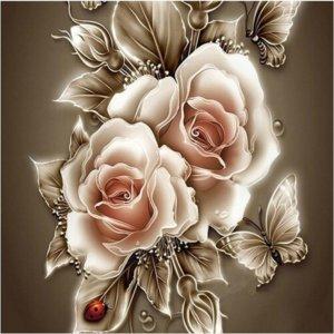 Needlework Diamond Painting Flower Peony Series