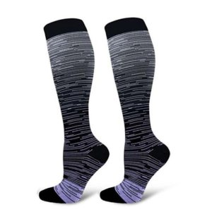 Outdoor Sports Compression Socks Gradient Printed