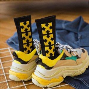 Trendy Pride Yellow Socks Streetwear
