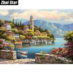 "Full Square Diamond Painting ""Beautiful scenery"""