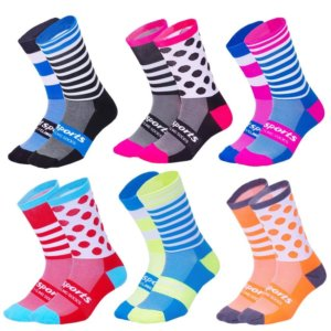 Personality Cycling Men Women Compression Running Sock