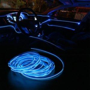 Car Neon Light Décor Lamp sky-blue