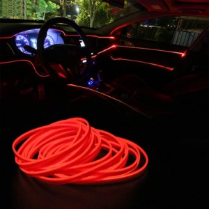 Car Neon Light Décor Lamp red