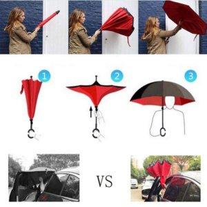 Double Layer Reverse Folding Umbrella