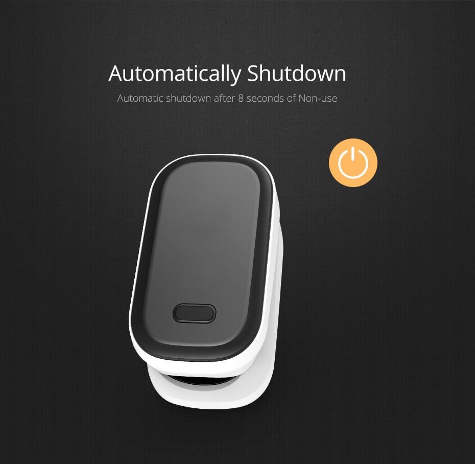 finger pulse oximeter auto shutdown