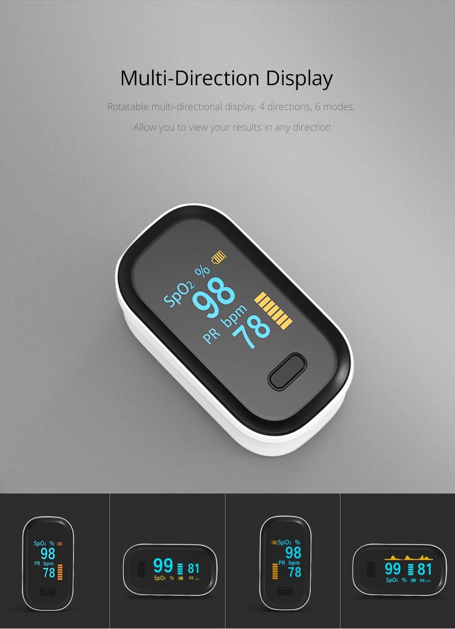 Fingertip Pulse Oximeter Multi Direction Display