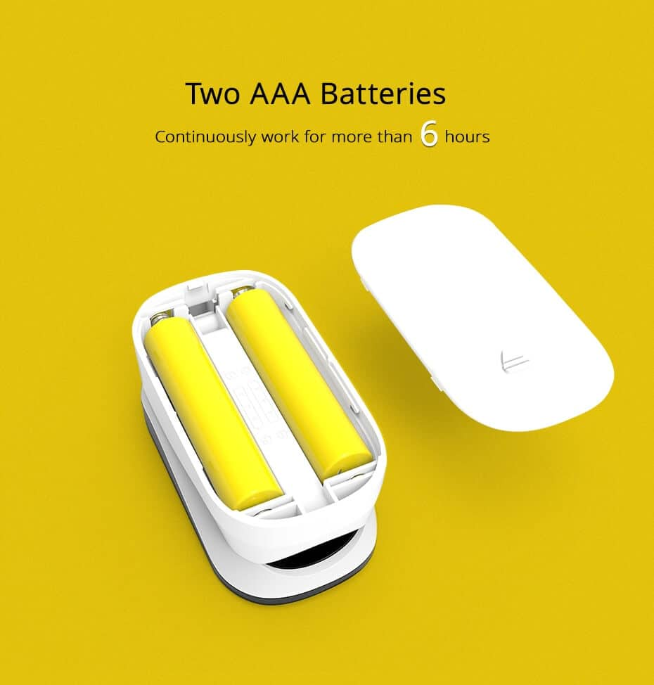 Fingertip Pulse Oximeter Two AAA Batteries